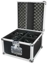 flight case per 4 fari a led
