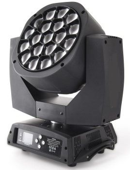 LED TESTA MOBILE ZOOM 19x15W RGBW 4in1 OSRAM LED EYE COLOR